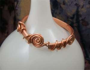 Copper Celtic Bangle