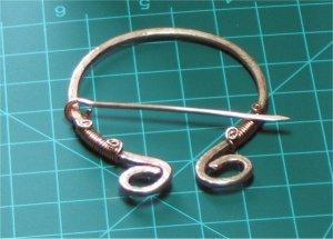 Copper Penannular Kilt Pin