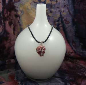Rhodonite Abstract Tree of Life Pendant